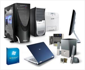 Computer hardware and software sales for home customers